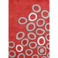 Alliyah Hand-made Poppy Red New Zealand Blend Area Rug (8 x 10)