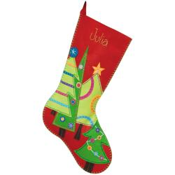 "Festive Tree Stocking Felt Applique Kit-19"" Long"