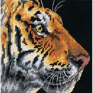 "Tiger Profile Mini Needlepoint Kit-5""X5"" Stitched In Thread"