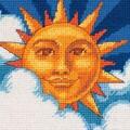 Celestial Sun Mini Needlepoint Kit-5