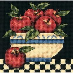 "A Bowl Of Apples Mini Needlepoint Kit-5""X5"" Stitched In Thread"
