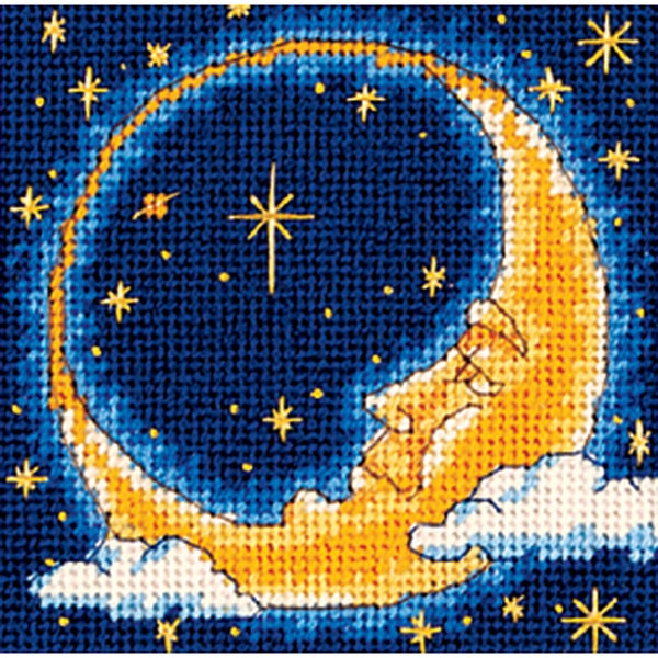 "Moon Dreamer Mini Needlepoint Kit-5""X5"" Stitched In Yarn 9186050"