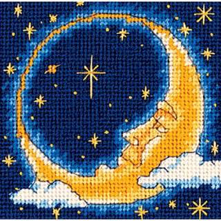 "Moon Dreamer Mini Needlepoint Kit-5""X5"" Stitched In Yarn"