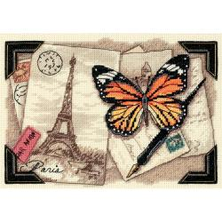 """Gold Collection Petite Travel Memories Counted Cross Stitch-7""""X5"""""""