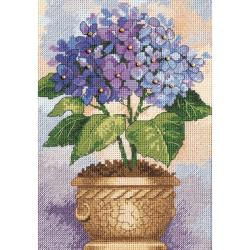 "Gold Collection Petite Hydrangea In Bloom Counted Cross Stit-5""X7"""