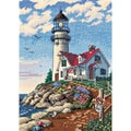 Gold Collection Petite Beacon At Rocky Point Counted Cross S-5