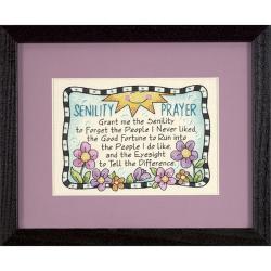 "Senility Prayer Mini Stamped Cross Stitch Kit-7""X5"""