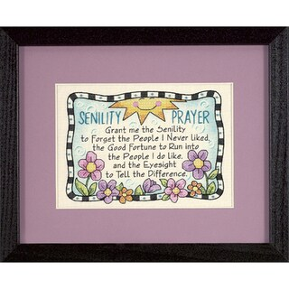 "Senility Prayer Mini Stamped Cross Stitch Kit-7""X5"""