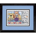 Paw Prints Mini Stamped Cross Stitch Kit-7