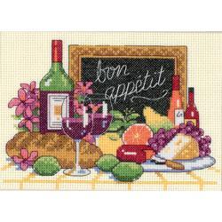 "Bon Appetit Mini Counted Cross Stitch Kit-7""X5"""