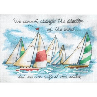 "Adjusting Our Sails Mini Counted Cross Stitch Kit-7""X5"""