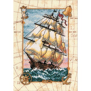 "Gold Collection Petite Voyage At Sea Counted Cross Stitch Ki-5""X7"""
