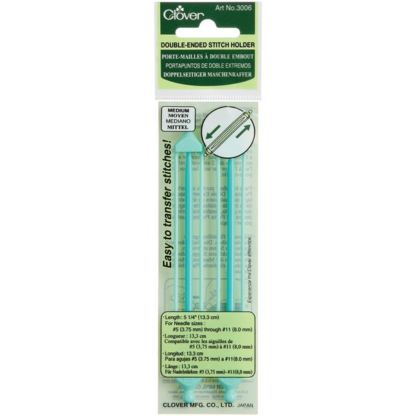 "Double Ended Stitch Holder 5-1/4""-Sizes 5-11 2/Pkg"