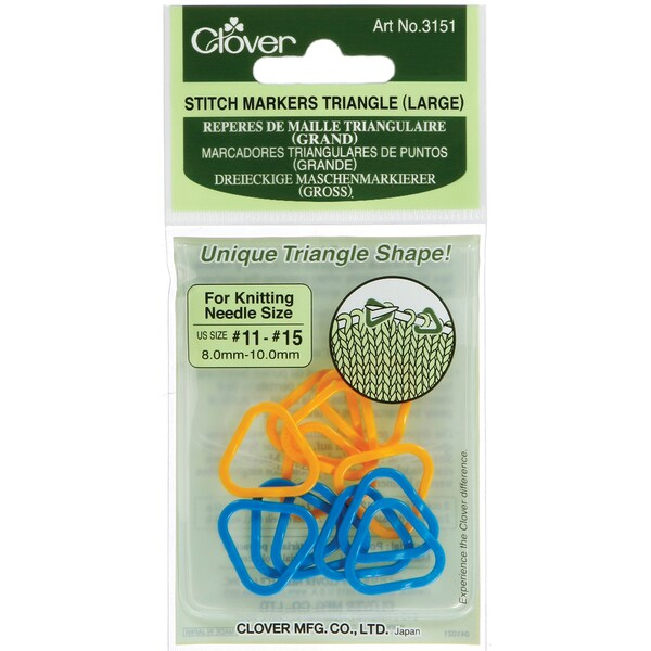 Stitch Markers Triangle Large-Sizes 11-15 2 Colors 12/Pkg