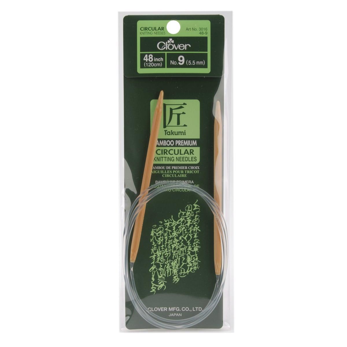 "Bamboo Circular Knitting Needles 48""-Size 9"