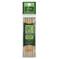"Bamboo Double Point Knitting Needles 5"" 5/Pkg-Size 10.5"