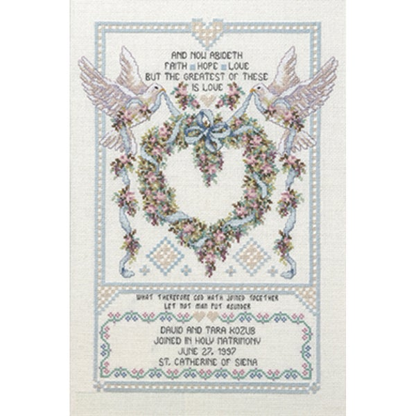 Platinum Collection  Wedding Doves Counted Cross Stitch Kit 9186265