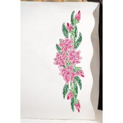 "Stamped Pillowcase Pair 20""X30"" For Embroidery-Tiger Lily"