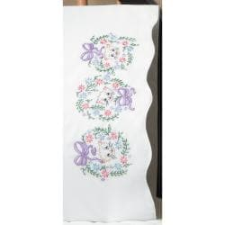 Embroidery Flower Cats 20 x 30 2-pack Stamped Pillowcase