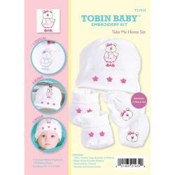Tobin Baby Bear Take Me Home Set Embroidery Kit-Fits Newborn