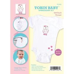 Tobin Baby Bear Soft Touch Romper Embroidery Kit-Fits 0-3 Months