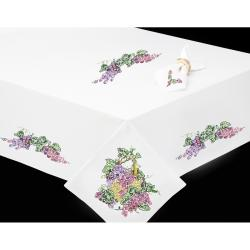 "Grapes Stamped Table Runner For Embroidery-15""X44"""