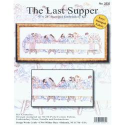 "Last Supper Stamped Embroidery Kit-9""X24"""