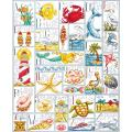 "Ocean ABC Counted Cross Stitch Kit-16""X20"" 14 Count"