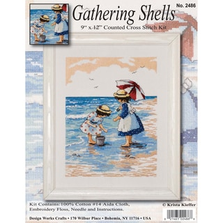 "Gathering Shells Counted Cross Stitch Kit-9""X12"" 14 Count"