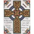 "Celtic Cross Counted Cross Stitch Kit-8""X10"" 14 Count"