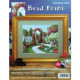 "Garden Of Peace Bead Point Kit-8""X10"" Printed"
