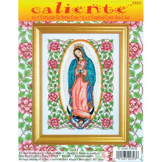 """Caliente Our Lady Of Guadalupe Counted Cross Stitch Kit-13""""X17"""" 14 Count"""
