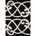 Handmade Alliyah Jet Black Wool Area Rug (8' x 10')