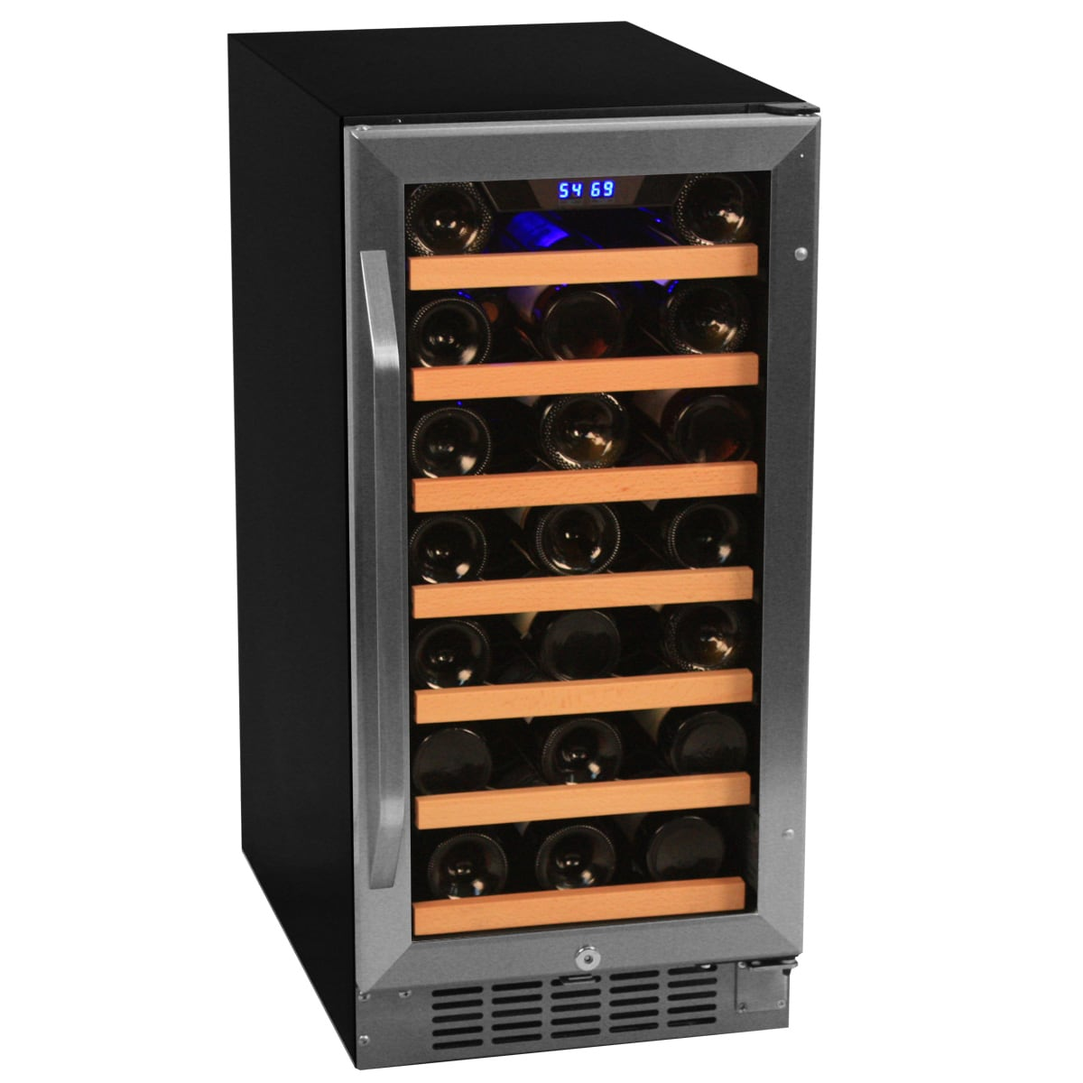 Overstock.com EdgeStar 30 Bottle Built-In Wine Cooler - Stainless Steel/Black at Sears.com