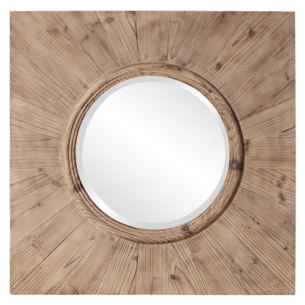 Michigan Knotted Wood Grain Mirror