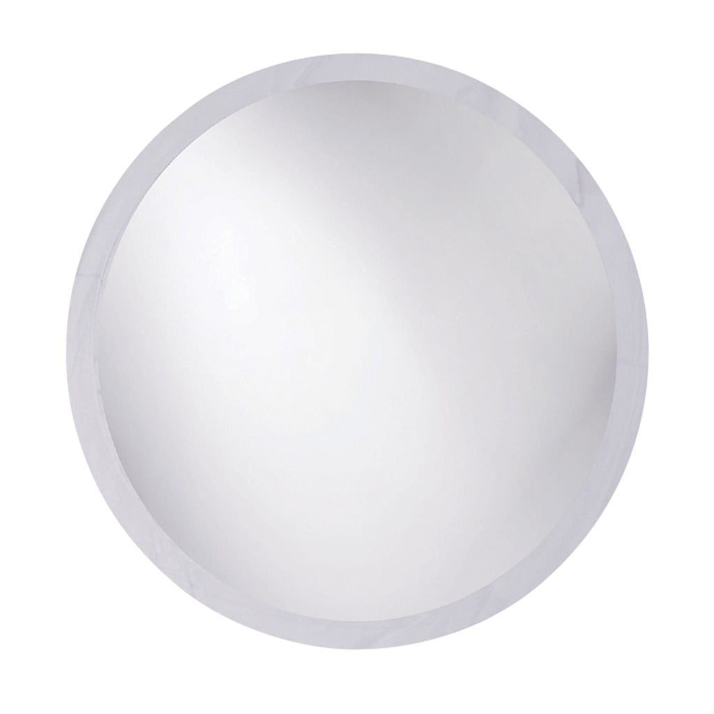 Frameless Beveled Round Mirror
