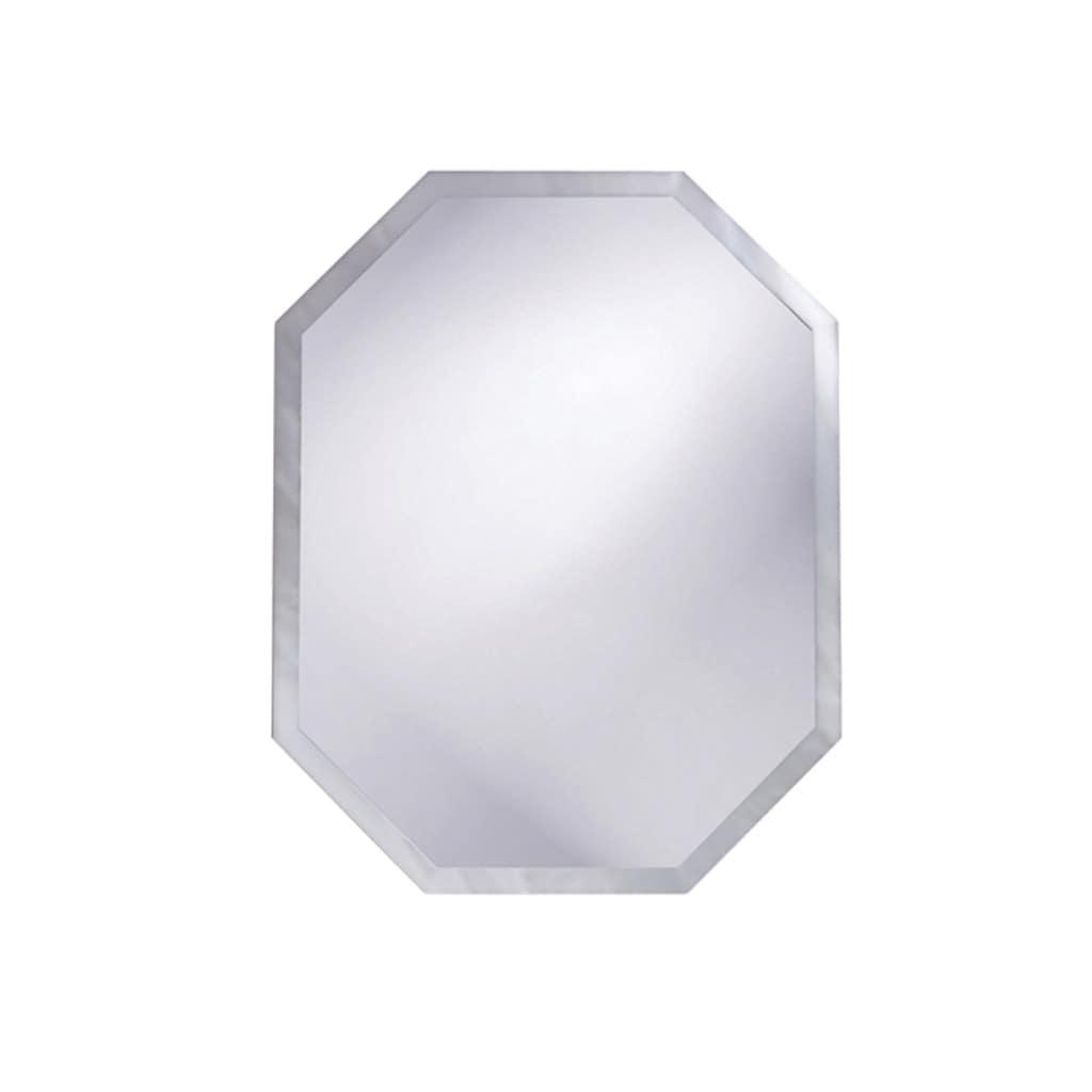 Frameless Beveled Octagonal Mirror