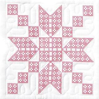 "Stamped White Quilt Blocks 18""X18"" 6/Pkg-Stepping Stones"