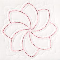 "Stamped White Quilt Blocks 18""X18"" 6/Pkg-XXX Pinwheel"