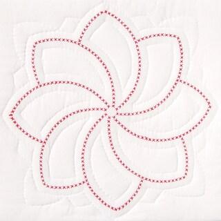 """Stamped White Quilt Blocks 18""""X18"""" 6/Pkg-XXX Pinwheel"""