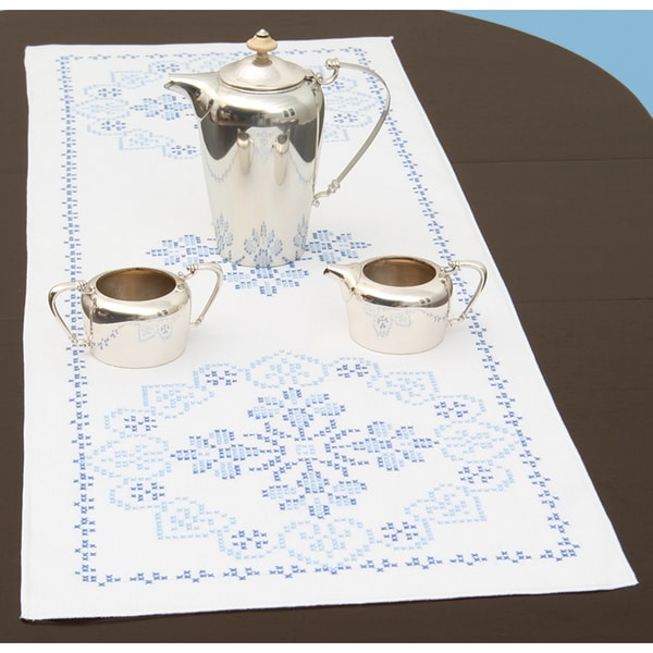 "Stamped Table Runner/Scarf 15""X42""-XXX Americana"