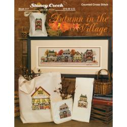 Stoney Creek 'Autumn in the Village' Multicolor Cross-stitch Pattern