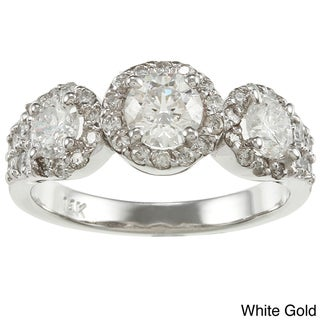 Auriya  14k Gold 1 1/5ct TDW Round Diamond Engagement Ring (G-H, I1-I2)