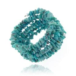 Glitzy Rocks Sterling Silver Turquoise Chip Cuff Bracelet