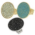 Journee Collection Large Vintage Rhinestone Disc Stretch Ring