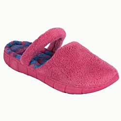 Muk Luks Women's 'Flower Fairisle' Pink Ballet Slippers