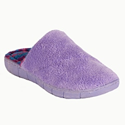 Muk Luks Women's 'Flower Fairisle' Purple Scuff Slippers