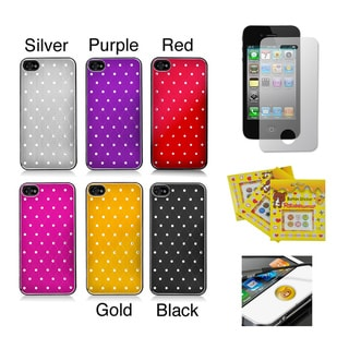 Apple iPhone 4/ 4S Sparkling Aluminum Designer Rear-Only Case