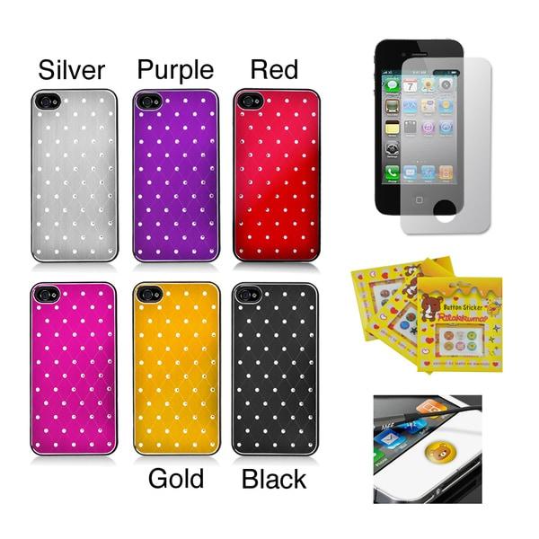 Apple iPhone 4/ 4S Sparkling Aluminum Designer Rear-Only Case