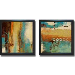 Michael Marcon 'Boardwalk Fun I and II' Framed 2-piece Canvas Art Set